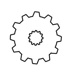 Gear machine setup icon vector