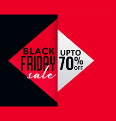 Geometric style black friday creative sale banner vector