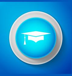 graduation cap icon graduation hat with tassel vector image