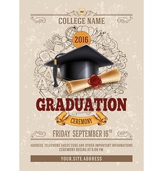 Graduation template vector image