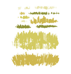 Graphic collection abstract stainy grass on vector