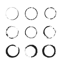 Grunge circle border set vector