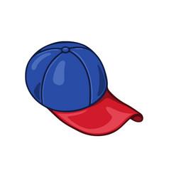 hand drawn cartoon baseball cap on white vector image