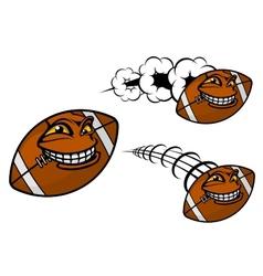 Happy cartoon football or rugby ball vector