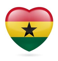 Heart icon of Ghana vector image