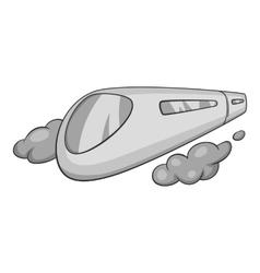 High speed train icon black monochrome style vector