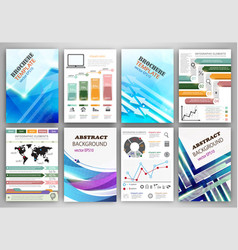 infographic templates and abstract creative vector image