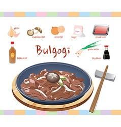 Ingredients in bulgogi vector