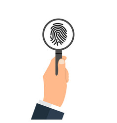 Investigation of thumb prints by magnification vector