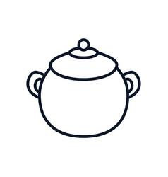 Japanese pot utensil isolated icon vector