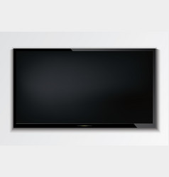 led tv hanging on the wall background vector image