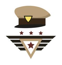 Military hat design vector