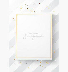 mock up poster template with gold frame vector image