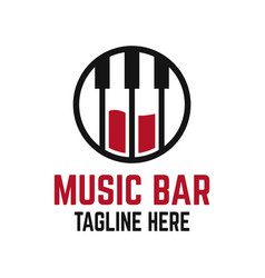 modern music bar logo vector image