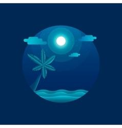Moonlight beach vector