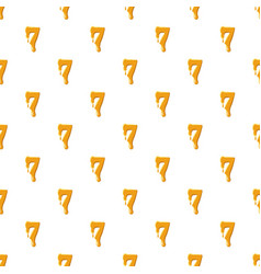 Number 7 from honey pattern vector