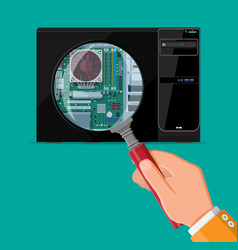 pc hardware concept vector image