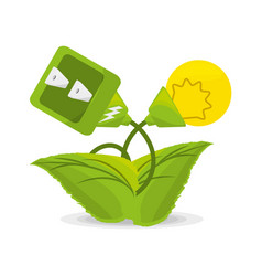 Plant related with alternative energy for save the vector