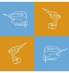 pop art tools vector image