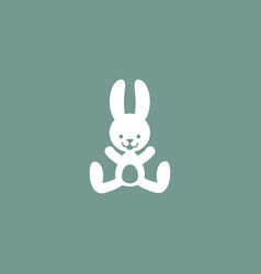 rabbit icon simple vector image