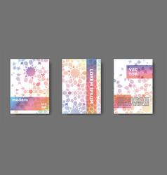 Rainbow cover design with arabic mosaic vector