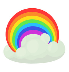 Rainbow icon cartoon style vector