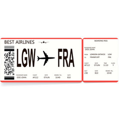 Red and white boarding pass vector