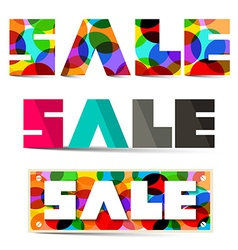 Sale Colorful Titles Set vector image