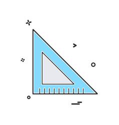scale triangle icon design vector image