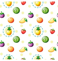 Seamless design with fruits vector image