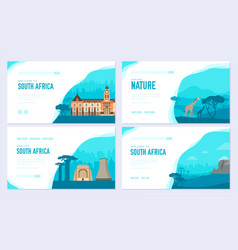 set of south africa country ornament travel trip vector image