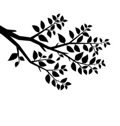 silhouette of the branch tree vector image