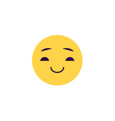 smiling emoticon - comic face vector image
