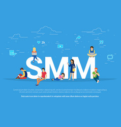 Smm concept of people vector