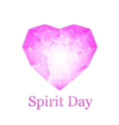 Spirit day heart vector