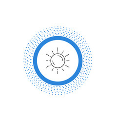 sun space planet astronomy weather line icon vector image