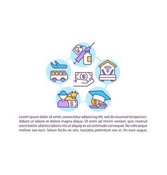 Supporting industry sectors concept icon with text vector