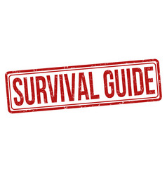 Survival guide grunge rubber stamp vector