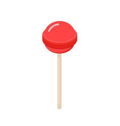 Sweet isometric lollipop candy icon design vector