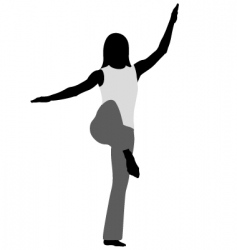 tai chi stance of crane vector image