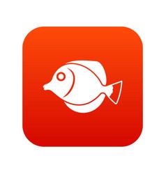 Tang fish zebrasoma flavescens icon digital red vector