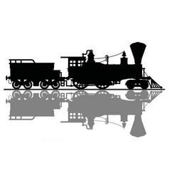 The vintage american steam locomotive vector