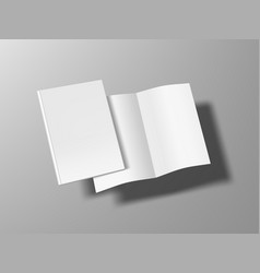 two thin books open and close with soft cover vector image