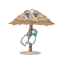 Waiting beautiful beach shelter sand isolated vector