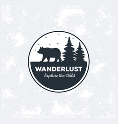 wanderlust adventure logo icon vector image