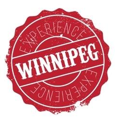 Winnipeg stamp rubber grunge vector