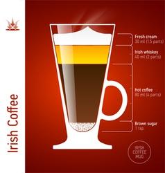 Irish Coffee cocktail vector image vector image