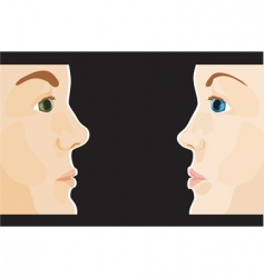 man and woman profile vector image vector image