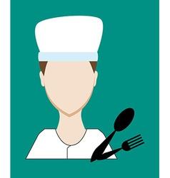 Profession people cook Face male uniform Avatars vector image