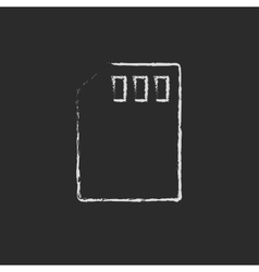 Sim card drawn in chalk vector image